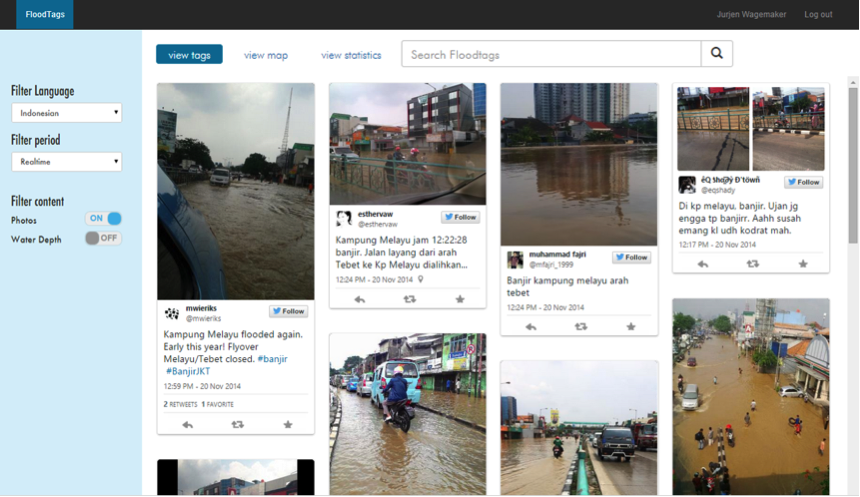Using twitter to get ground truth on floods: an interview with Floodtags founder Jurjen Wagemaker 4
