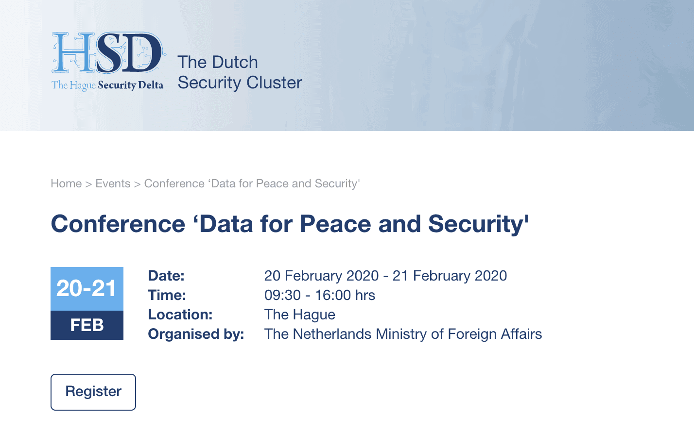 Conference on Data for Peace and Security 1