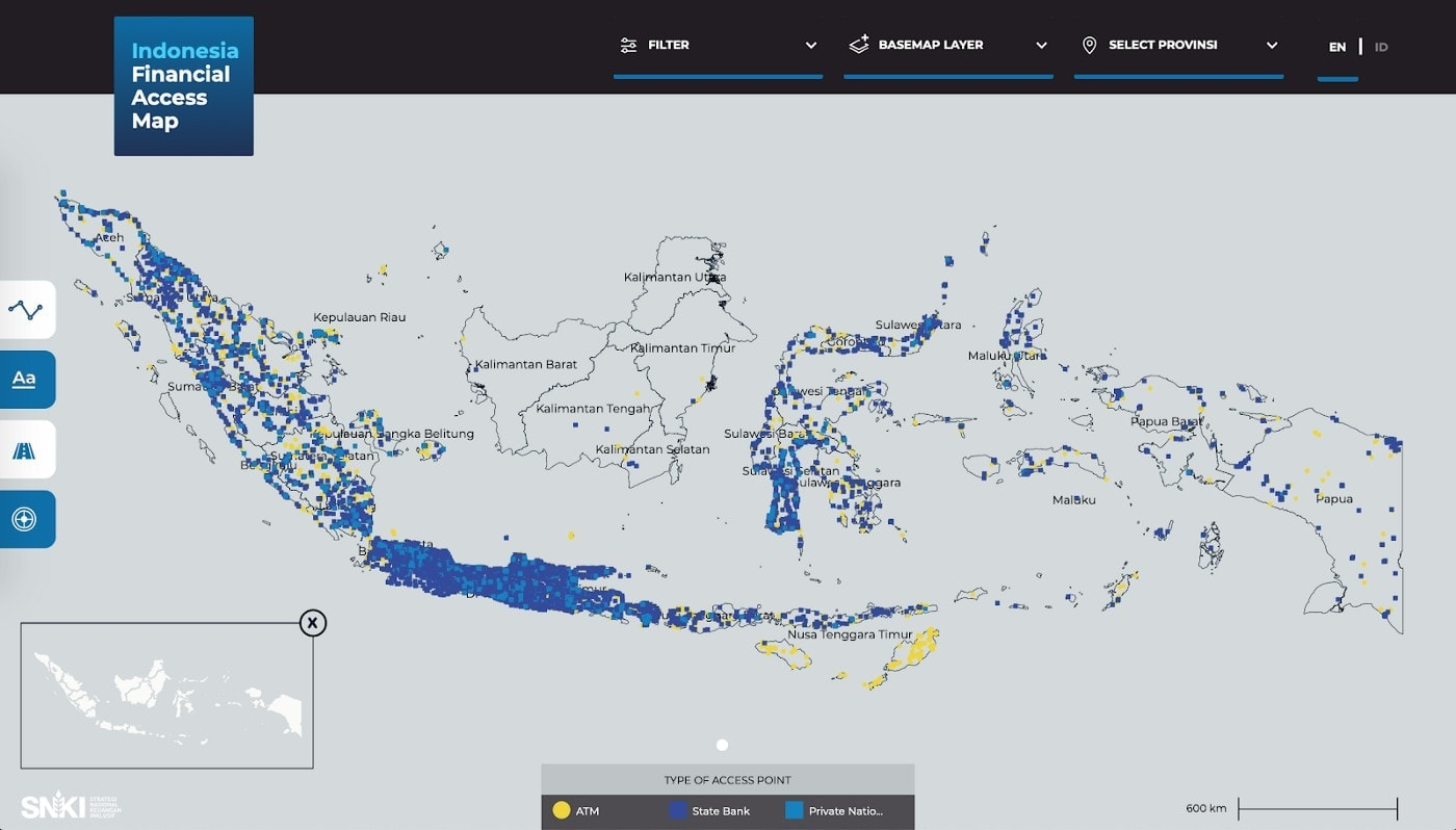 Mapping Financial Services Points Across Indonesia 2