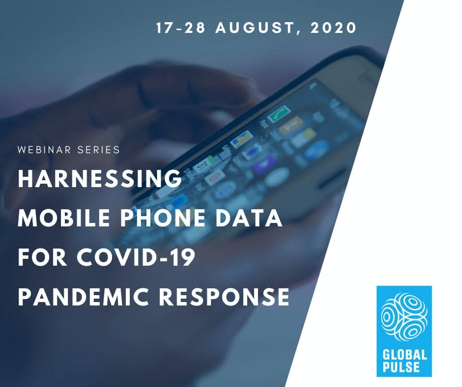 Harnessing mobile phone data in response to COVID-19 - Online webinar series 1