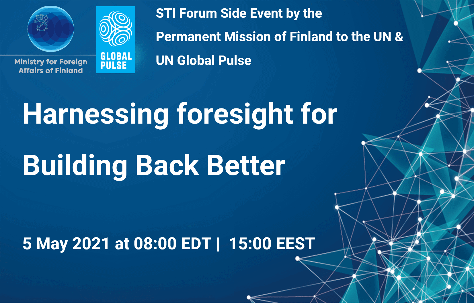 Harnessing Foresight for Building Back Better: STI Forum - Online Side Event 1