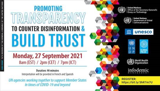 Promoting Transparency to Counter Disinformation and Build Trust 2